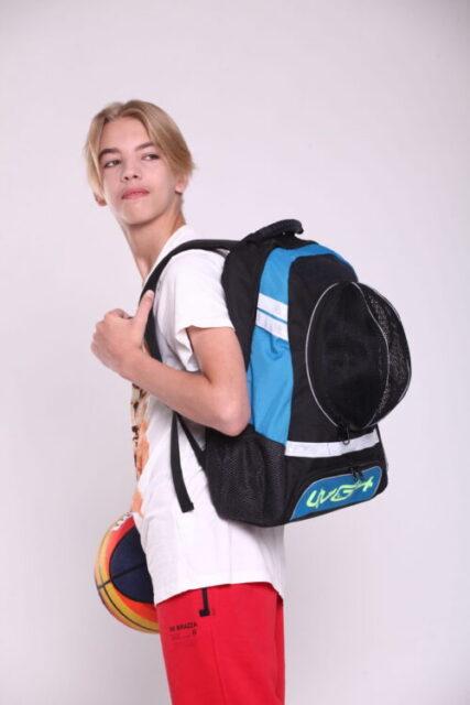 Рюкзак спортивный Черно-голубой WGH