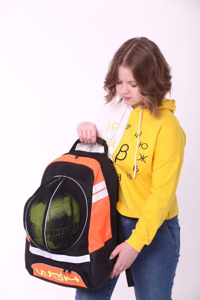 Рюкзак спортивный Черно-оранжевый WGH