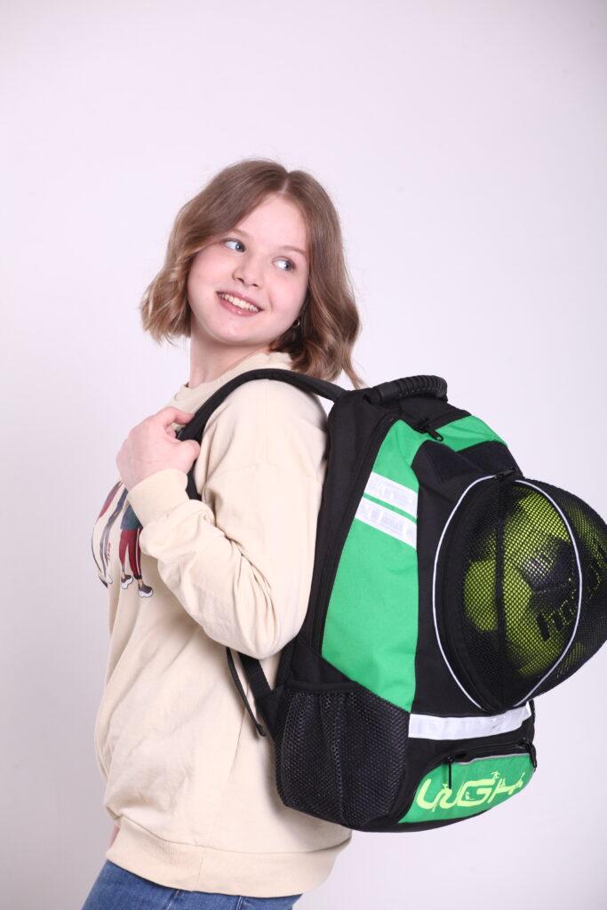 Рюкзак спортивный Черно-зеленый WGH